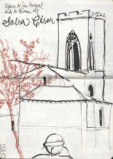 Torre de San Miguel desde la terraza de Salsa César