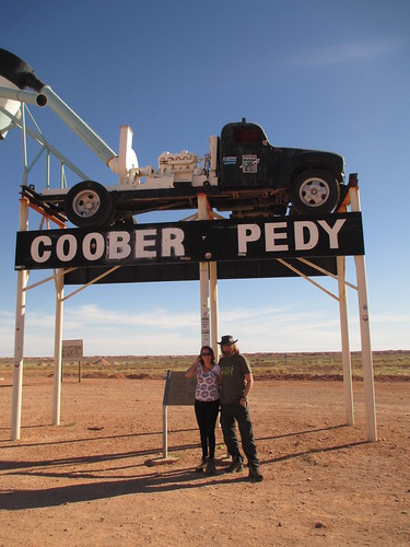 Federica and me @ Coober Pedy