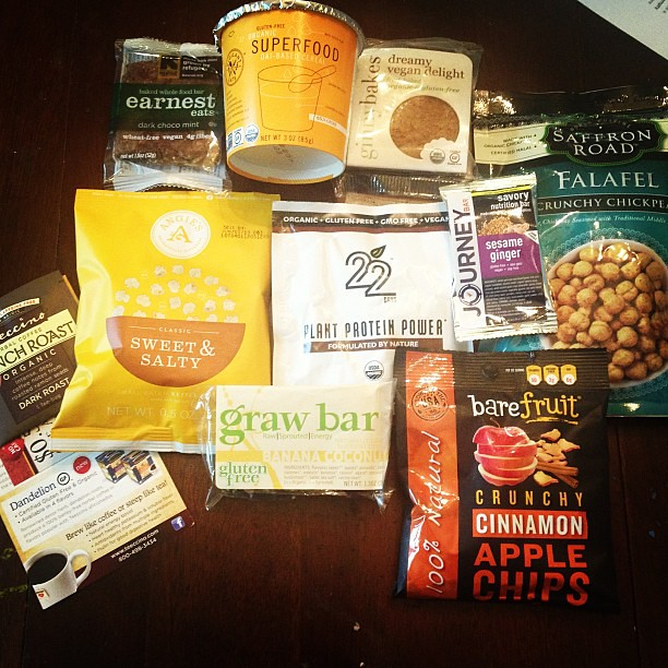 Finally opened my @vegancuts box after my trip to Portland. I am very excited about these snacks! #vegancuts