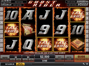 Ghost Rider Free Spins Feature