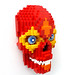 Day of the Dead Red Skull by daveh_design