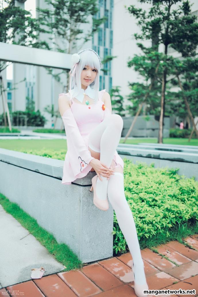 29244410756 f9d06512da o [ Tổng hợp ] Bộ ảnh cosplay của Emilia của Coser ASAKI   Dễ thương đến mê hồn