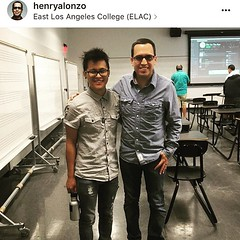 Board Member @henryalonzo , a music business professor at East Los Angeles College, invited our favorite music producer @mobettabang to be a guest in his class.   #college #music #business #indiemusic #professor #audio #engineer #producer #producers