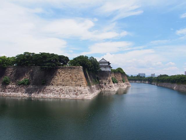 大阪城外圍的護城河