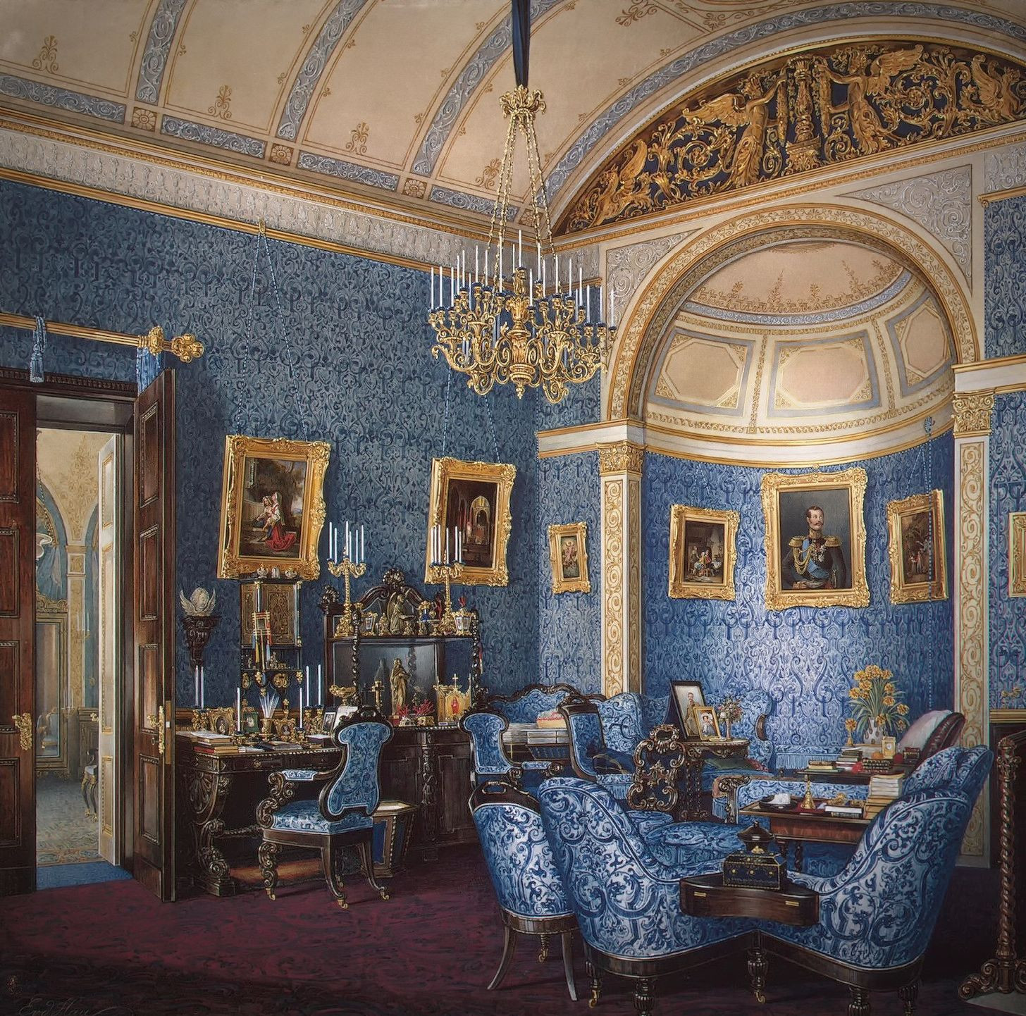 The Boudoir of Grand Princess Maria Alexandrovna, 1850