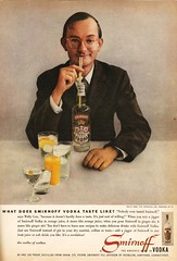 Wally Cox for Smirnoff vodka, 1957