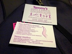 Tammy's Sports & Remedial Massage. Logo design and busicards etc...