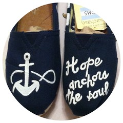 Handpainted Anchor TOMS