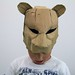 tiger cardboard head