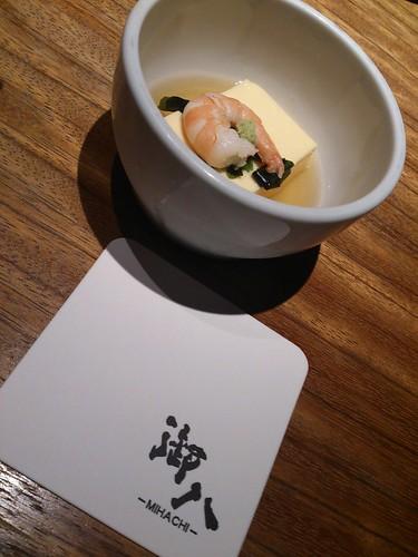 お通しの「たまご豆腐」