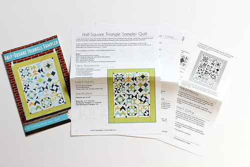 Half-Square Triangle Sampler Paper Pattern by Jeni Baker