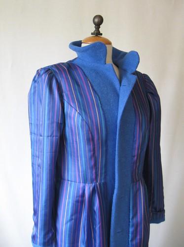 Blue coat lining