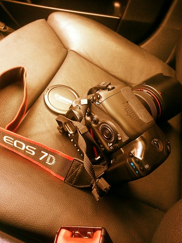 Traveling Buddy - Canon 7D riding shotgun by J.Whitley | Photography