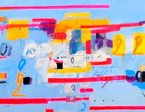 Nuit Sano: Abstract in Blue' (A Solo Exhibition)
