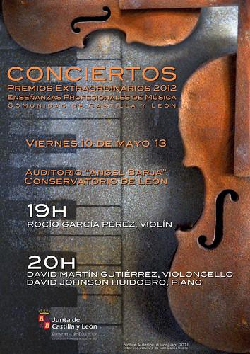 CONCIERTOS PREMIOS EXTRAORDINARIOS 2012 ENSEÑANZAS PROFESIONALES DE MÚSICA - LEÓN 10 DE MAYO´13 by juanluisgx