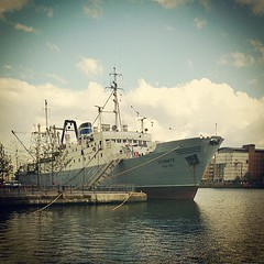 ME Stubnitz #boat #fishing #East_German #ship #club #cultural_centre #Canary_Wharf #London. #E14 #Isle_of_Dogs