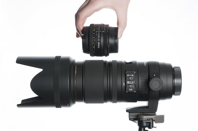 Sigma 70-200 and Nikon 50mm