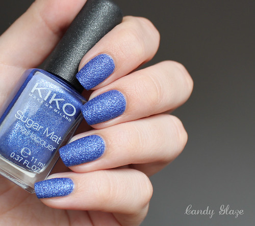 Kiko Sugar Mat Nail Lacquer 644 Sea Blue_2