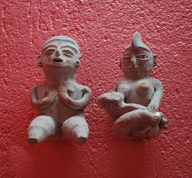 Olmec style figures from Xochipala, Guerrero at the Rufino Tamayo Museum