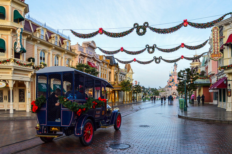 Main Street Car During Christmas
