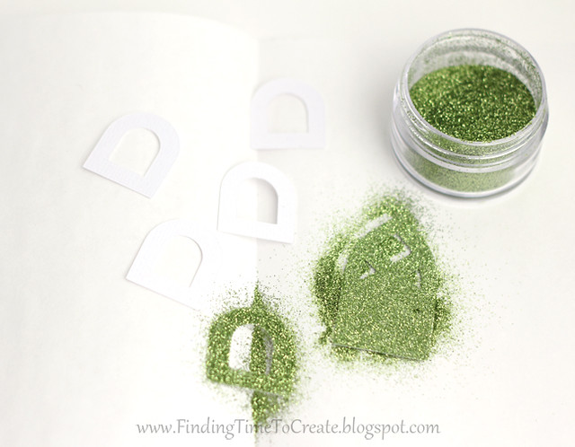 House Ornaments - glitter on back side of adhesive cardstock