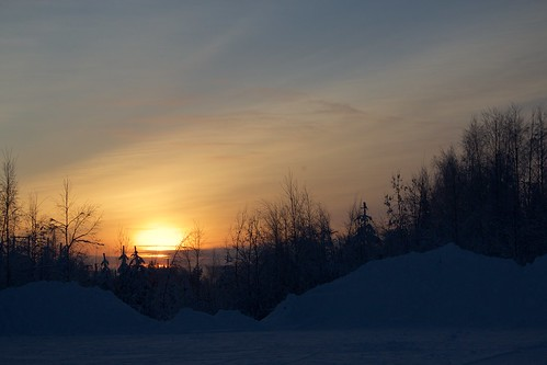 Wintry Sunset in Lapland