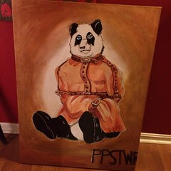 This gorgeous painting was done by artist Adrian Henry and will be featured at the Psycho Panda pop up shop at Nordstrom in Pentagon City this Saturday!!! See more at www.PsychoPandaStreetwear.com #ppstwr #streetwear #savethepandas #culture #painting #lov