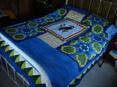 quilt, art, duvet cover, textile, patchwork, furniture, linens, quilting, bed sheet, blue,