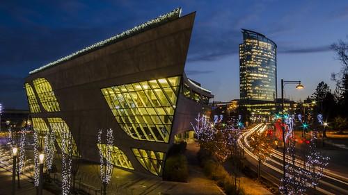 christmas lights twilight nikon surrey architectural civic nightscene cityofsurrey d7000