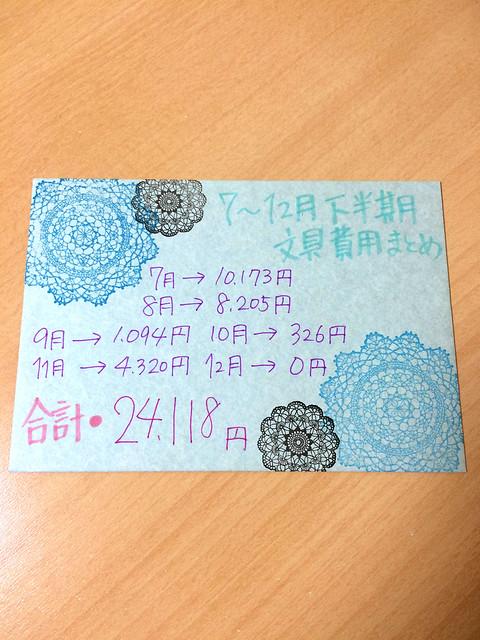 2014年お手紙文具購入 7〜12月