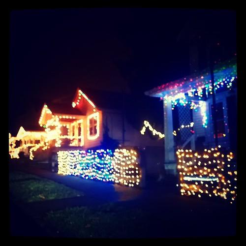 Holiday lights in Newport, Kentucky...
