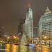 Chicago, Michigan Avenue.Wrigley Building at Christmas Time!