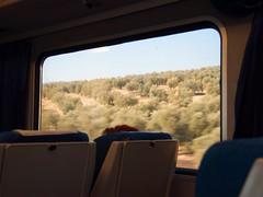 train across southern spanish countryside