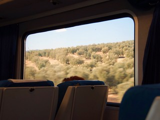 train across southern spanish countryside