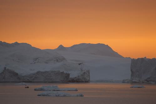 sunset landscape ngc arctic greenland icebergs mcmanus ilulissat ilulissaticefjord