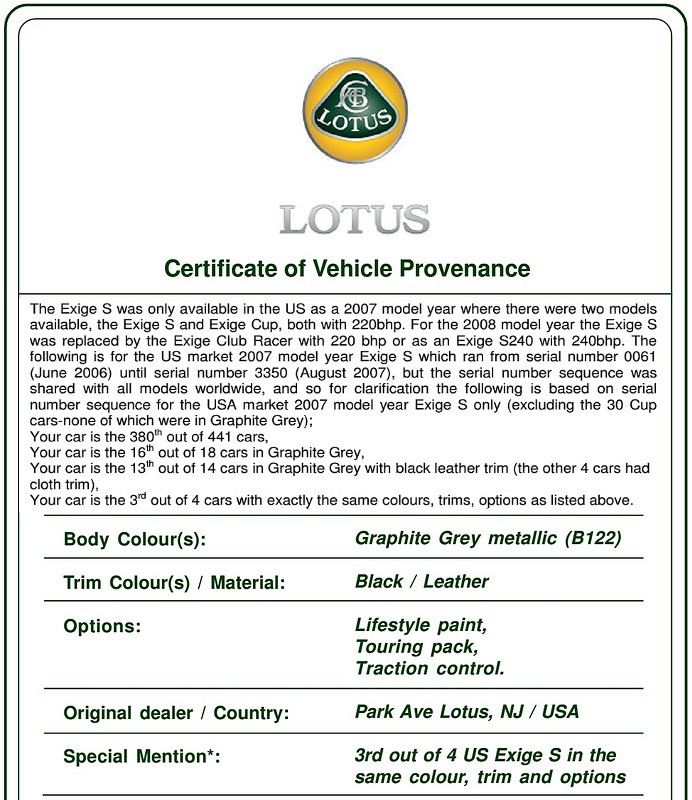exige production numbers page 3 lotustalk the lotus cars community. Black Bedroom Furniture Sets. Home Design Ideas