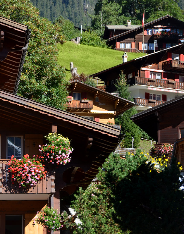 Casas de Grindelwald en Suiza