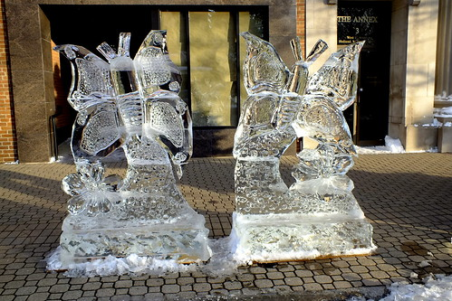 ice sculptures downtown Holland MI