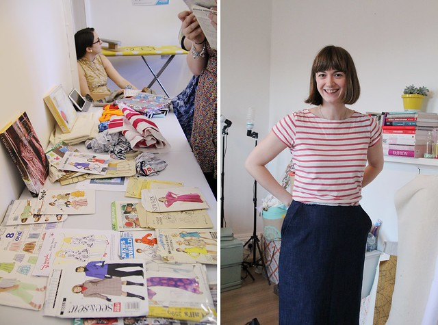 blogger sewing day