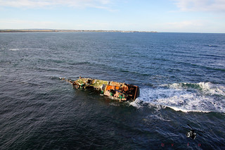 Aerial Pictures the Sovereign BF380 Shipwreck