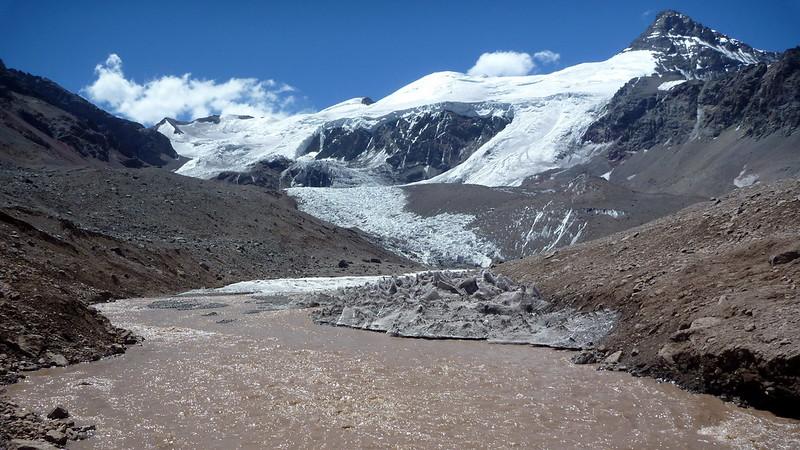 Le Cerro Cuerno (5462m) au-dessus de Plaza de Mulas