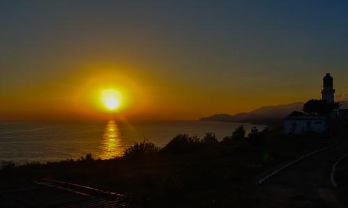 sunset sea lighthouse water meer wasser sonnenuntergang fort kati santiagodecuba leuchtturm kuba festung 2014 caribbeansea karibik castillodesanpedrodelaroca nikon1v1