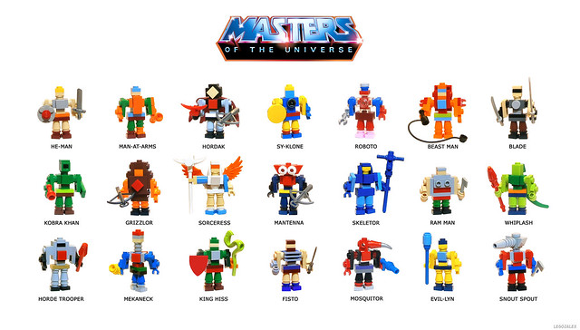 Masters of The Universe - Brickbuild figures