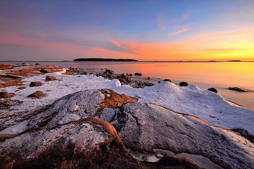 winter sunset sea snow seascape color ice finland helsinki horizon seashore