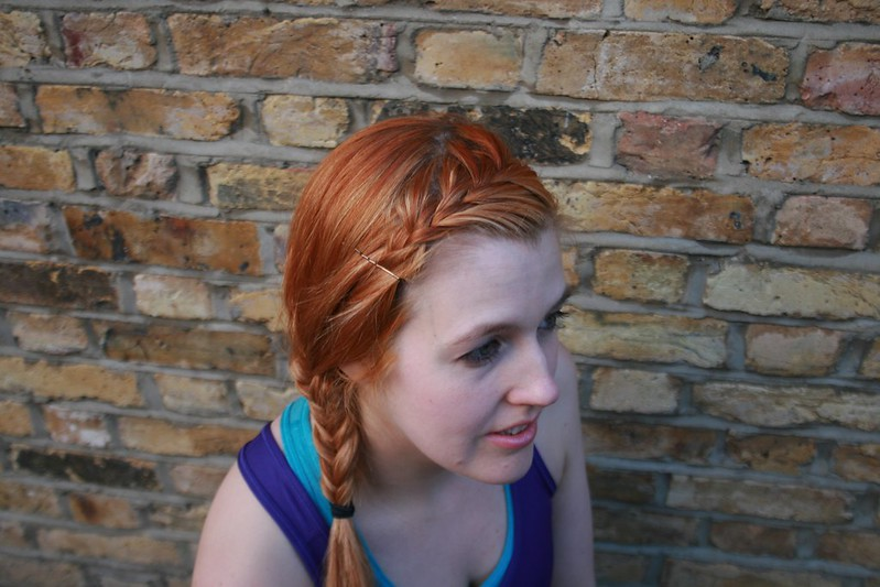 French plait fringe & Fishtail plait