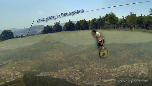 Unicycling in Debagoiena