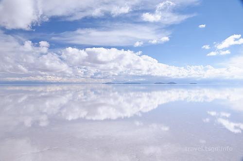 【写真】世界一周 : ウユニ塩湖(夕方-2)