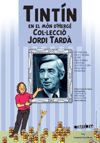 Cartell exposició Tintín i el món d'Hergé
