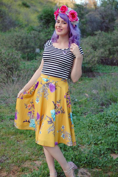 Modcloth Ikebana For All skirt