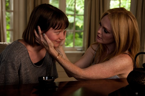Mia Wasikowska and Julianne Moore get more than they bargained for in MAPS TO THE STARS.